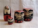 Wood Daruma, Small, Med, Large, Long